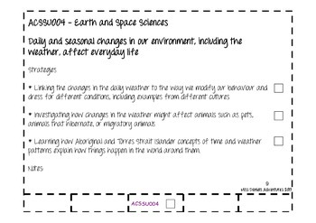 Freebie Australian Curriculum Flap Book Science Prep/Kindergarten