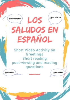 Freebie-Authentic Greetings in Spanish 1/ Video resource- Listening practice