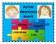 Freebie Autism Awareness Month Brag Tags and Door Sign or Poster