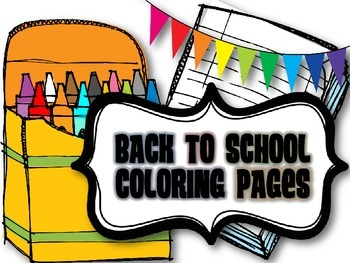 Freebie Back To School Coloring Pages