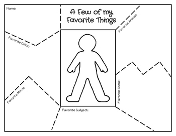 Freebie Back to School About Me Puzzles