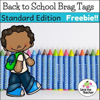 Freebie! Back to School Brag Tags