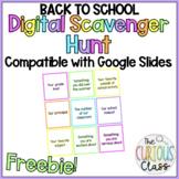 Freebie: Back to School Digital Scavenger Hunt for Google Classroom