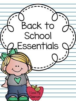 Freebie:  Back to School Essentials
