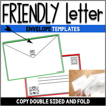 Friendly Letter Templates - Back to School Version