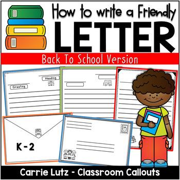 Back to School Friendly Letter Fun