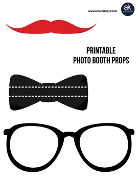Freebie- Back to School Printable Photo Booth Photobooth Props