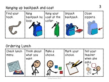 Freebie: Backpack and Lunch Visual Supports