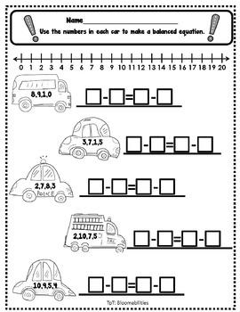 Freebie: Balancing Equations Worksheet