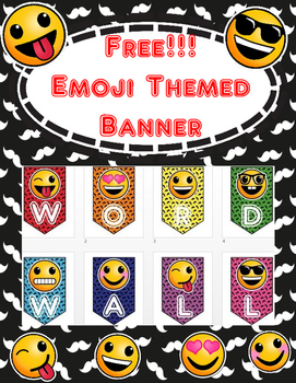 Banner for your Word Wall Freebie!!! Emoji Themed