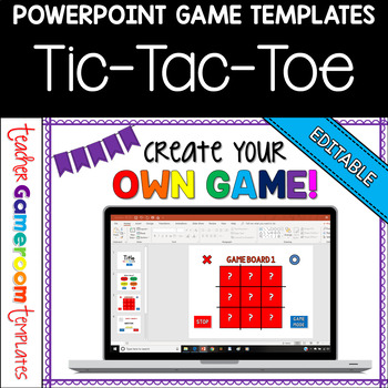 editable tic tac toe powerpoint game template by teacher gameroom