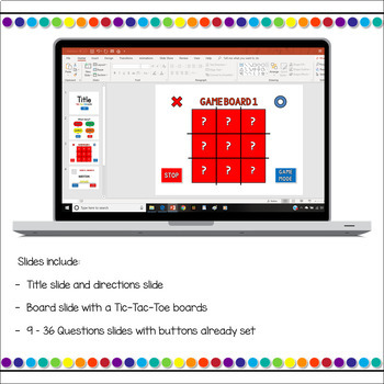 Editable tic tac toe powerpoint game template by teacher for Tic tac toe template for teachers