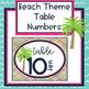 Freebie Beach Theme Decor Table Numbers