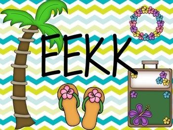 Freebie Beach themed Daily 5 EEKK poster