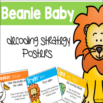 Beanie Baby Decoding Strategy Posters {Freebie}