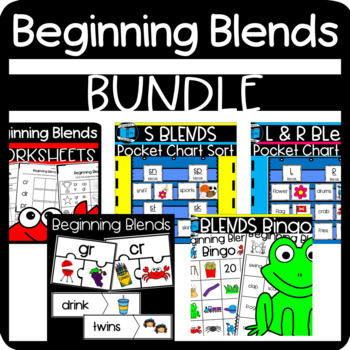 Freebie! Beginning Blends Resources: Puzzles, Stories, Wor
