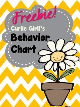 Freebie Behavior Chart