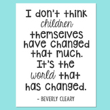 Freebie! Beverly Cleary Quote Poster, Beezus and Ramona