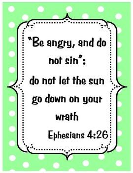 {Freebie} Bible Verse Poster- Anger