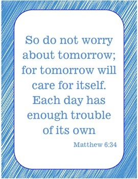 {Freebie} Bible Verse Poster- Anxiety