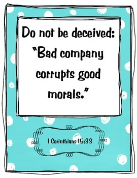 {Freebie} Bible Verse Poster- Friend