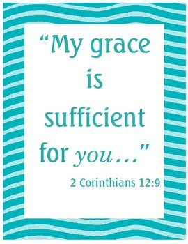{Freebie} Bible Verse Poster- Grace