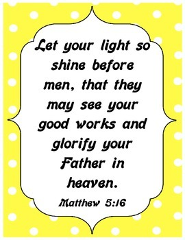 {Freebie} Bible Verse Poster- Let Your Light Shine