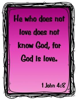 {Freebie} Bible Verse Poster- Love