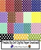 Freebie Big Dots Digital Paper