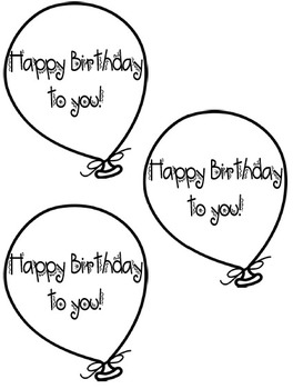 Freebie Birthday Balloons template