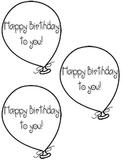 Freebie Birthday Balloons template