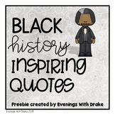 Black American Motivational Quotes (2 Poster Freebie)