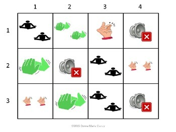 Freebie: Body Percussion Performance Flashcards: 1 Sound, 2 Sounds, 1 Silent