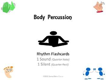 Freebie: Body Percussion Performance Flashcards: Rhythm: 1 Sound, 1 Silent