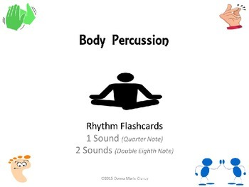 Freebie: Body Percussion Performance Flashcards: Rhythm: 1 Sound, 2 Sounds