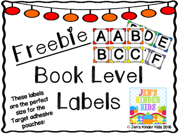 Freebie Book Level Labels *Fits Target Adhesive Pockets*