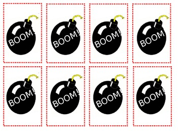 Freebie Boom (Pow!) Game - Use Your Own Sight Words or Math Facts