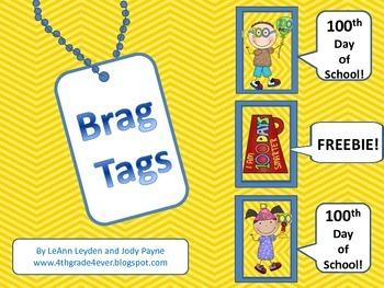 Brag Tags: 100th Day of School