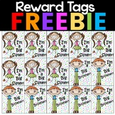 Freebie!!  Reward Tags for Big Brother and Sister!