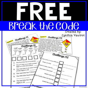Freebie - Break the Code  - Win a Kite Challenge