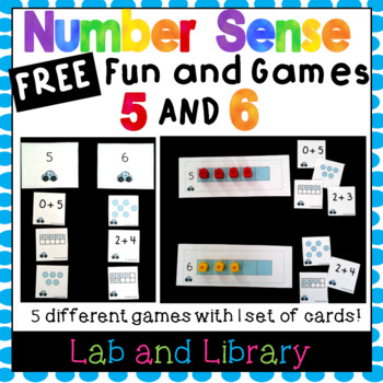 Freebie! Building Number Sense in Kindergarten: Fun and Games with Numbers 5 & 6