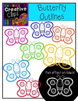 Freebie! Butterfly Outlines {Creative Clips Digital Clipart}