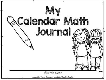 Freebie!!! Calendar Math Journal