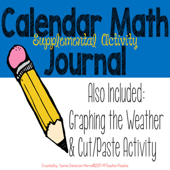 Freebie!!! Calendar Math Journal