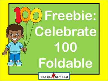 Freebie: Celebrate 100 Foldable