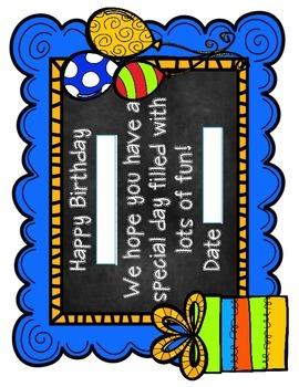 {Freebie} Celebrating Classroom Birthdays