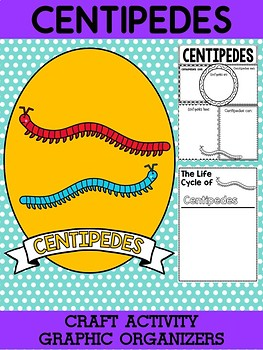 Freebie: Centipedes - Writing Craft and Graphic Organizers SET, Book Template