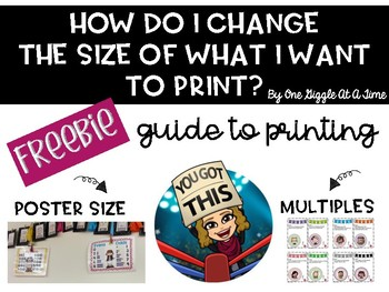 Freebie Changing The Size Of Documents Before You Print