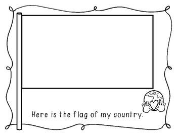 Freebie!  Children around the World Report for Kindergarten