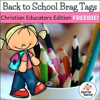 Freebie! Christian Educators Back to School Brag Tags